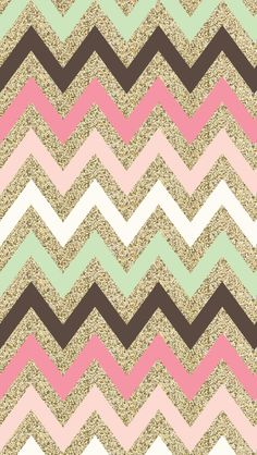 Glitter chevron iphone wallpaper