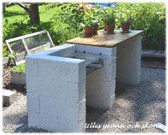 External kitchen with lecablock – DIY Garden Design ideas - Housing Projects for World Diy Outdoor Kitchen, Outdoor Oven, Backyard Kitchen, Summer Kitchen, Outdoor Cooking, Backyard Patio, Backyard Landscaping, Outdoor Decor, Brick Bbq