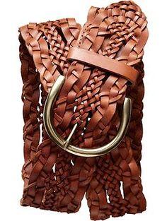 Woven leather belt   Banana Republic