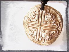 Mary Magdalene Rosetta Reliquary Byzantine Medal New by HDRustica