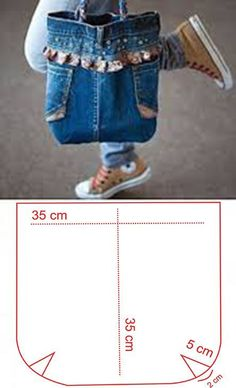 molde para hacer un bolso de jeans - Quarter Tutorial and Ideas Diy Jeans, Jean Diy, Denim Purse, Diy Tote Bag, Best Purses, Denim Crafts, Patchwork Bags, Fabric Bags, Bag Making