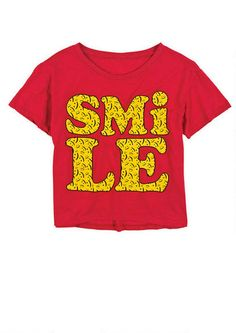 Smile Signs Tee - Graphic Tees - Tops - dELiA*s