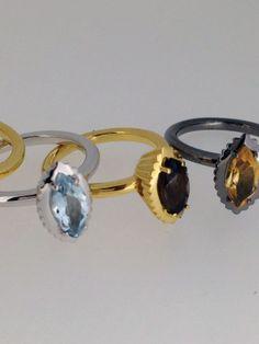 Anelli in argento e pietre di colore della divertente linea Piccoli Pasticci, new entry della collezione La Vita Dolce di Sigismondo Capriotti (Capriotti Gioielli)