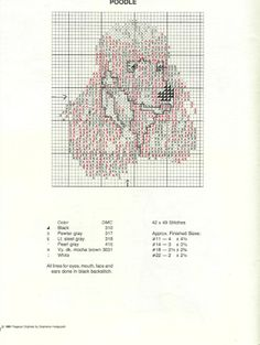 Poodle cross stitch