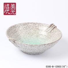 Japanese Restaurants ceramic chinaware&ceramic salad&serving bowl E595-B-12003   Size: diameter 10 inch