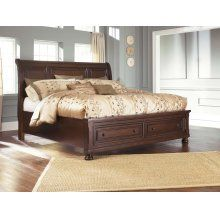 Check out this King Sleigh Bed with Storage at Turner's Budget Furniture! Ashley Furniture Sofas, Bedroom Furniture, Home Furniture, Kitchen Furniture, Cheap Furniture, Furniture Cleaning, Business Furniture, Furniture Logo, Yurts