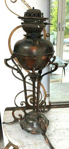 Kerosene Lamp, Oil Lamps, Antique Copper, Arts And Crafts, Victorian, Antiques, Ebay, Antiquities, Antique