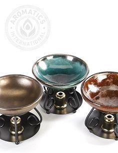 Diffuser-Raku Ceramic Essential Oil Diffuser from Aromatics