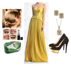 """Warm Yellow"" by teodoramaria98 ❤ liked on Polyvore featuring Charlotte Olympia, Christian Dior and Victoria Townsend"