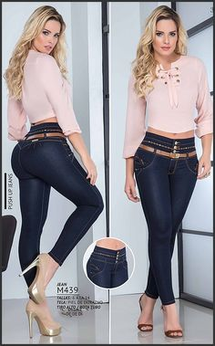 Pin by Magic Cola Fashion Corp on Nueva Coleccion Junio 2018 in 2019 Hot Outfits, Jean Outfits, Spring Outfits, Denim Fashion, Girl Fashion, Fashion Outfits, Womens Fashion, Sexy Jeans, Skinny Jeans