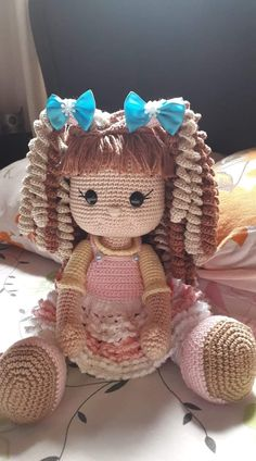 – Crochet – # Crochet – Amigurumi World # Crochet # … Crochet Dolls Free Patterns, Crochet Doll Pattern, Amigurumi Patterns, Amigurumi Doll, Diy Crafts Crochet, Crochet Projects, Knitted Dolls, Stuffed Toys Patterns, Crochet Animals
