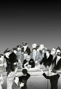 https://flic.kr/p/27Sidor | 12_ミネルヴァの旗を立てよ後篇72ppi |  「ミネルヴァの旗を立てよ 戦後篇――宰相岸信介」 中路啓太著 本の旅人(Kadokawa)2018年2月号掲載 扉絵 the title cut of the monthly serial novel 'Minerva no Hata wo Tateyo after WWⅡ' by Author Kaita NAKAJI on PR magazine 'Hon no Tabibito' (KADOKAWA Inc.)   強行採決 昭和35年(1960年)五月十九日、新安保条約の強行採決後、反安保、反岸の動きが強まり、岸は退陣を迫られるようになります。