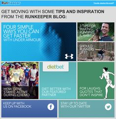 Example of great, eye catching & successful eNewsletter - teaser style. RunKeeper via HubSpot