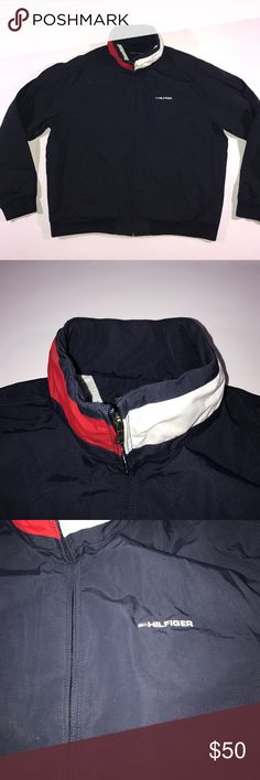 XL Tommy Hilfiger Spell Out Hooded Jacket Excellent condition Tommy Hilfiger Jackets & Coats Windbreakers