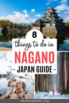 Explore the best things to do in Nagano Japan with this Japan travel guide. Photograph Japan snow monkeys at Jigokudani, relax in a Japan onsen, see the famous Matsumoto castle, do some Japan hiking in the Japanese Alps in Kamikochi, and visit iconic Terrace House Karuizawa sites! Includes a week in Japan itinerary. Put this beautiful Japan travel destination on your Japan bucket list!  | Togakushi | Japan nature | Japan travel tips | Where to go in Japan | Planning a trip to Japan | #japan Tokyo Travel Guide, Japan Travel Guide, Asia Travel, Japan Onsen, Nagano Japan, Kamikochi, Snow Monkeys, Karuizawa, Japan Guide