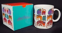 New Laurel Burch Cats Mug FANTASTIC FELINES 1988 Made in Japan with Box  Кружки и чашки