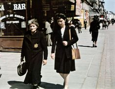 A Jewish woman wearing the yellow star