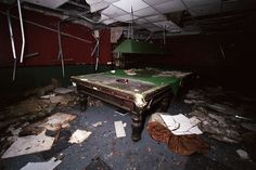 14 Abandoned Snooker Tables, Billiard Rooms and Pool Halls
