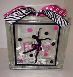 Personalized Vinyl Glass block with a ballet by TheStylishLetter, $28.00
