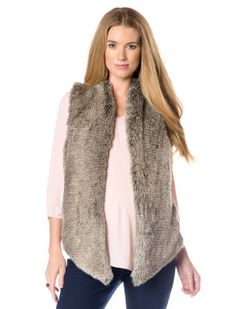 Tart Collections Faux Fur Maternity Vest   A Pea in the Pod #maternity #vests #fauxfur #winter Maternity Winter Coat, Maternity Fashion, Maternity Style, Tart Collections, Style Guides, Faux Fur, Winter Coats, Sweaters, Sweater