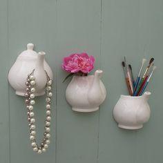 Porcelain Teapot Hanging Hook And Vase