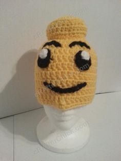 Lego Man Character Hat Crochet Pattern free character hat crochet pattern by cRAfterChick.com