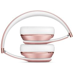 Beats Solo3 Wireless On-Ear Headphones Rose Gold ($300) ❤ liked on Polyvore featuring accessories, tech accessories and rose gold headphones