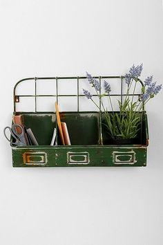 Kitchen window // herd garden // industrial // metal planter