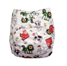 Style of diaper: One-Size Pocket Cloth Diaper (9-38 lbs) Each machine-washable…