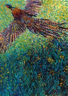 """""""Takenobu's Pheasant"""" by Iris Scott: http://www.ugallery.com/iris-scott"""