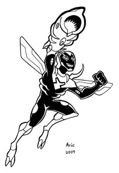 Blue beetle 02 inks by fullname on deviantart lineart for Blue beetle coloring pages