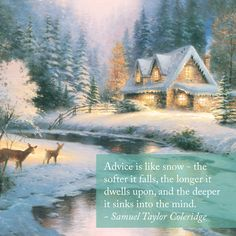Winter - Winter light has a beauty all its own as shown in this wonderful collection of Thomas Kinkade Studios winter art. See how the Thomas Kinkade Studios mastery of Thomas Kinkade Art, Thomas Kinkade Christmas, Oil Painting On Canvas, Painting Prints, Canvas Wall Art, Gifs, Kinkade Paintings, Art Thomas, Gif Animé