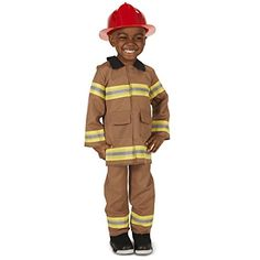 Wee Little Tan Firefighter with Helmet Toddler Halloween Costume, Size Toddler Boy's, Size: Toddler Dress Up, Toddler Boys, Dress Up Costumes, Baby Costumes, Great Costume Ideas, Toddler Halloween Costumes, Halloween 2017, Striped Jacket, Kids Store