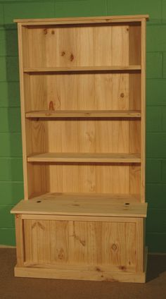 bookcase/shelves with integrated flip top toy box. built-in idea