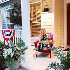WEBSTA @ ashleybrookedesigns - Rosé on the front porch with my main squeeze, @chambersrl... YES. PLEASE. 🍷🌴🇺🇸 #athomewithABD #bestever #roséallday