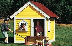 Free Plans to Help You Build a Playhouse for the Kids: DIY Playhouse Plan from Birds & Blooms