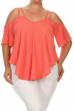 Cute Outfits For Plus Size Women. Graceful Plus Size Fashion Outfit Dresses for Everyday Ideas And Inspiration. Plus Size Refashion. Plus Size Summer Tops, Plus Size Tops, Plus Size Women, Plus Size Shirts, Short Women Fashion, Curvy Fashion, Plus Size Fashion, Boho Fashion, Fashion Top