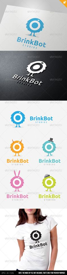 Brink Bot Logo  #GraphicRiver         This logo design for all creative business. Consulting,