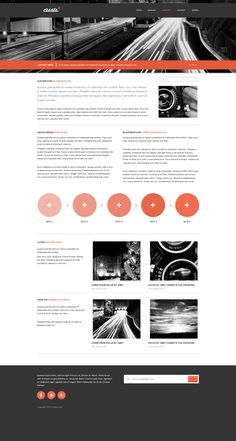 free Minimal Website Design PSD