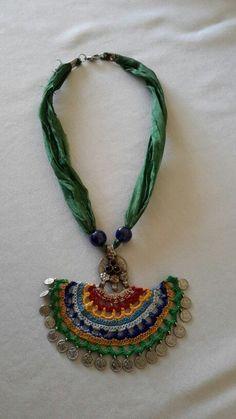 Adult Crochet Sweater Part 1 of 3 - Christmas Crochet Textile Jewelry, Fabric Jewelry, Diy Jewelry, Beaded Jewelry, Handmade Jewelry, Jewellery, Lace Earrings, Crochet Earrings, Crochet Motif