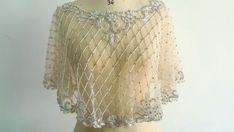Your place to buy and sell all things handmade Bridal Cover Up, Wedding Cape, The Great Gatsby, Capelet, Bridal Looks, Dress Making, Veil, Custom Made, High Fashion