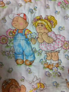 Cabbage Patch Kids Crib/Toddler Bed Quilt Baby Girl by CozeeQuilts