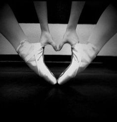 Dancer shows their love for ballet, heart art photo. My life wouldn't be complete without ballet. Ballet Pictures, Dance Pictures, Heart Pictures, Senior Pictures, All About Dance, Just Dance, Pointe Shoes, Ballet Shoes, Ballet Feet