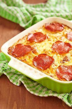 Looking for something new and delicious to make for dinner? Give Cheesy Pepperoni Pizza Casserole a try and let us know how it goes on social media! Pizza Casserole, Casserole Dishes, Casserole Recipes, Pork Recipes, Pasta Recipes, Cooking Recipes, Pork Meals, Dinner Recipes, Crock Pot Recipes