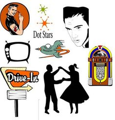 love the 50's times were fun and simple: drive-ins, juke boxes, sock hops and Elvis!!