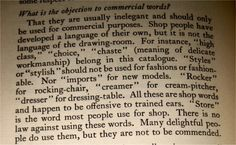 5. What is the objection to commercial words?