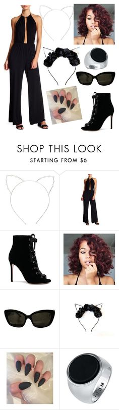 """""""Modern Cat Woman"""" by chataragreen ❤ liked on Polyvore featuring Cara, Clayton, Gianvito Rossi, Sonia Rykiel and modern"""