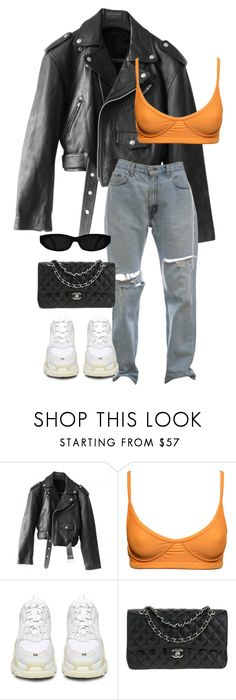 """""""#952"""" by blendingtwostyles ❤ liked on Polyvore featuring Jean-Paul Gaultier, Balenciaga and Chanel"""
