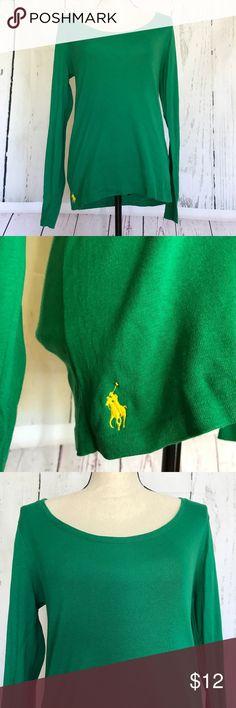 "Ralph Lauren Sport Tee Green Long Sleeve Size L Brand: Ralph Lauren Sport Color: Green Size: Large Material: Cotton Blend  Measurements Armpit to Armpit: 17 1/2"" x2 = 35"" Sleeve Length: 26 1/2"" Length: 26 1/2"" Ralph Lauren Sport Tops Tees - Long Sleeve"