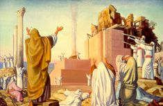The Temple Institute: Placement of the Second Temple Cornerstone